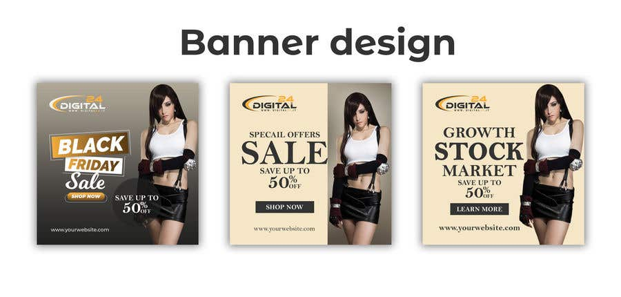 Contest Entry #                                        70                                      for                                         Create 3 banner for: black friday, Stock and offers