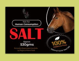 nº 38 pour Design a label for horse salt par shiblee10