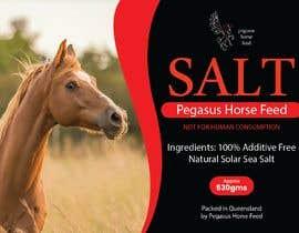 nº 17 pour Design a label for horse salt par jeewa10