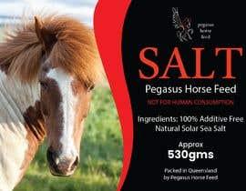 nº 22 pour Design a label for horse salt par jeewa10