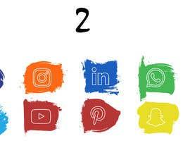 Nro 46 kilpailuun Social Media Icon Set käyttäjältä bobbybhinder