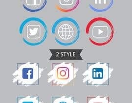 Nro 82 kilpailuun Social Media Icon Set käyttäjältä ranaaqeel03127