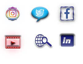 Nro 86 kilpailuun Social Media Icon Set käyttäjältä zarintn02