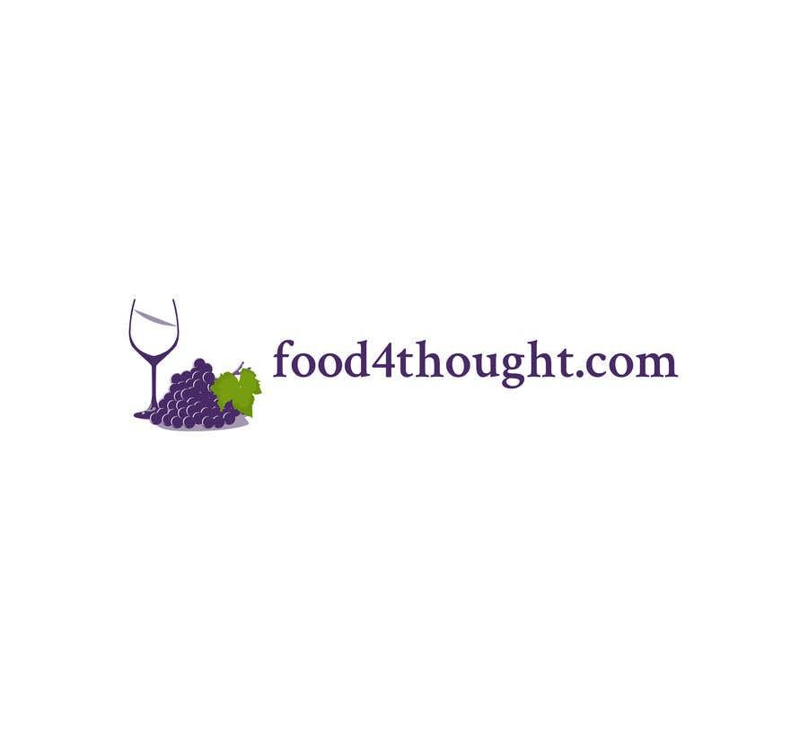 Kilpailutyö #                                        56                                      kilpailussa                                         Logo Food4thought wanted