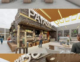 #12 for 2 renders for the interior of a restaurant by vadimmezdrin