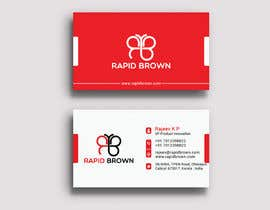 #118 para Require a Business card ,  letter head and envelope  for my company named Rapid brown, por talentbd5