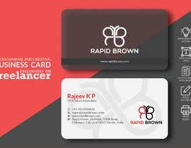 #234 para Require a Business card ,  letter head and envelope  for my company named Rapid brown, por DesignerSadekul