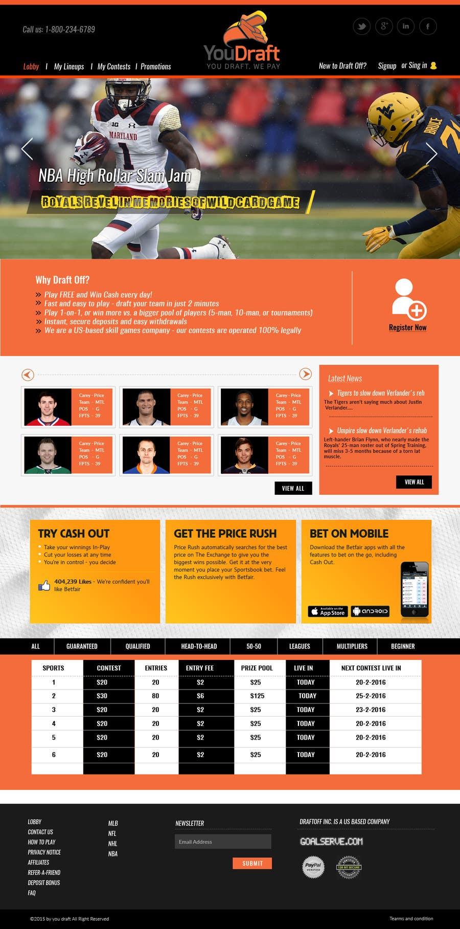 """Participación en el concurso Nro.                                        61                                      para                                         Design a Website Mockup - Homepage & """"Sliders"""" - No HTML Code Needed, Just PSD's"""