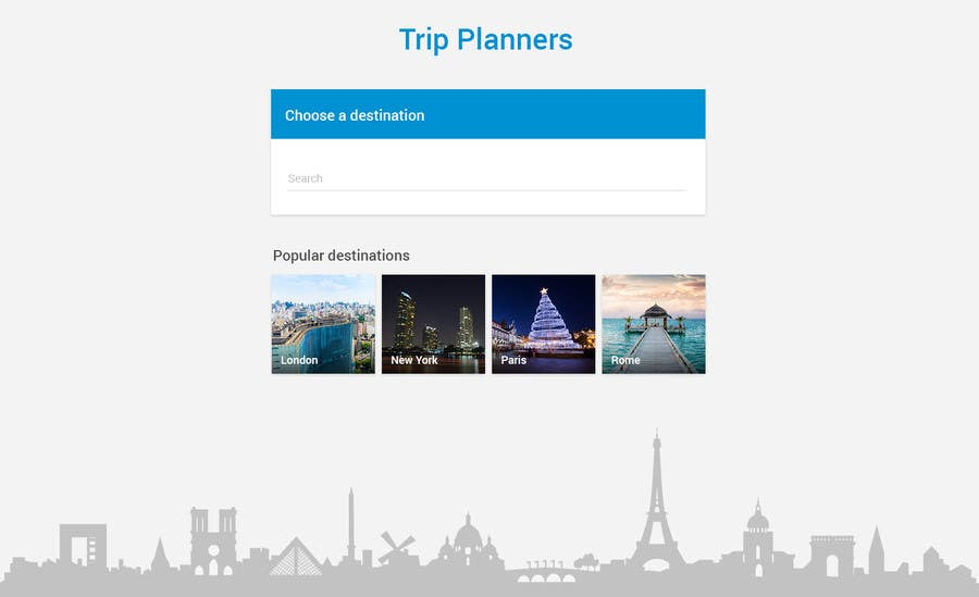 Entri Kontes #24 untukDesign for travel planning site (landing page and initial interaction)