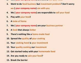 #20 untuk Attractive, Catchy Sentence for Food Service App oleh pavel571168