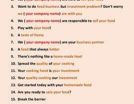 #20 for Attractive, Catchy Sentence for Food Service App af pavel571168