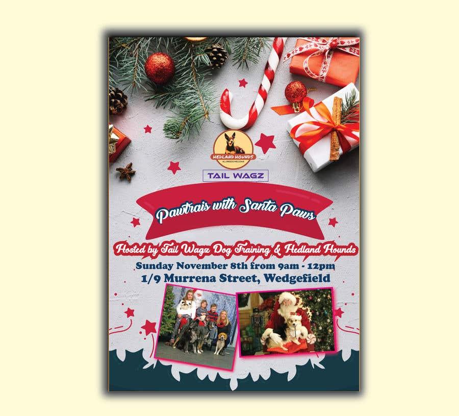 Kilpailutyö #                                        55                                      kilpailussa                                         Brochure to advertise dog christmas event