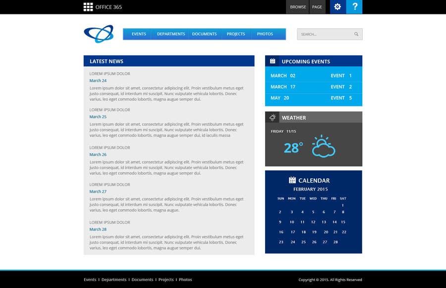 Participación en el concurso Nro.                                        2                                      para                                         Design for SharePoint Online Intranet HomePage