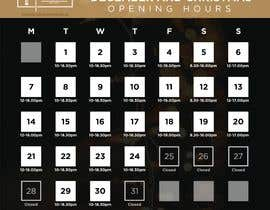 #12 for Christmas Opening Hours Graphic Barbershop Business by gauravbarai
