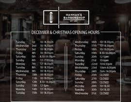 #2 cho Christmas Opening Hours Graphic Barbershop Business bởi wakil124
