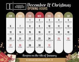 #7 cho Christmas Opening Hours Graphic Barbershop Business bởi bragadomariel22