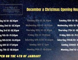 #1 cho Christmas Opening Hours Graphic Barbershop Business bởi OmarEsmail1