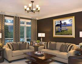 #16 untuk Ad image for social media presenting a canvas in a livingroom oleh meghla1384