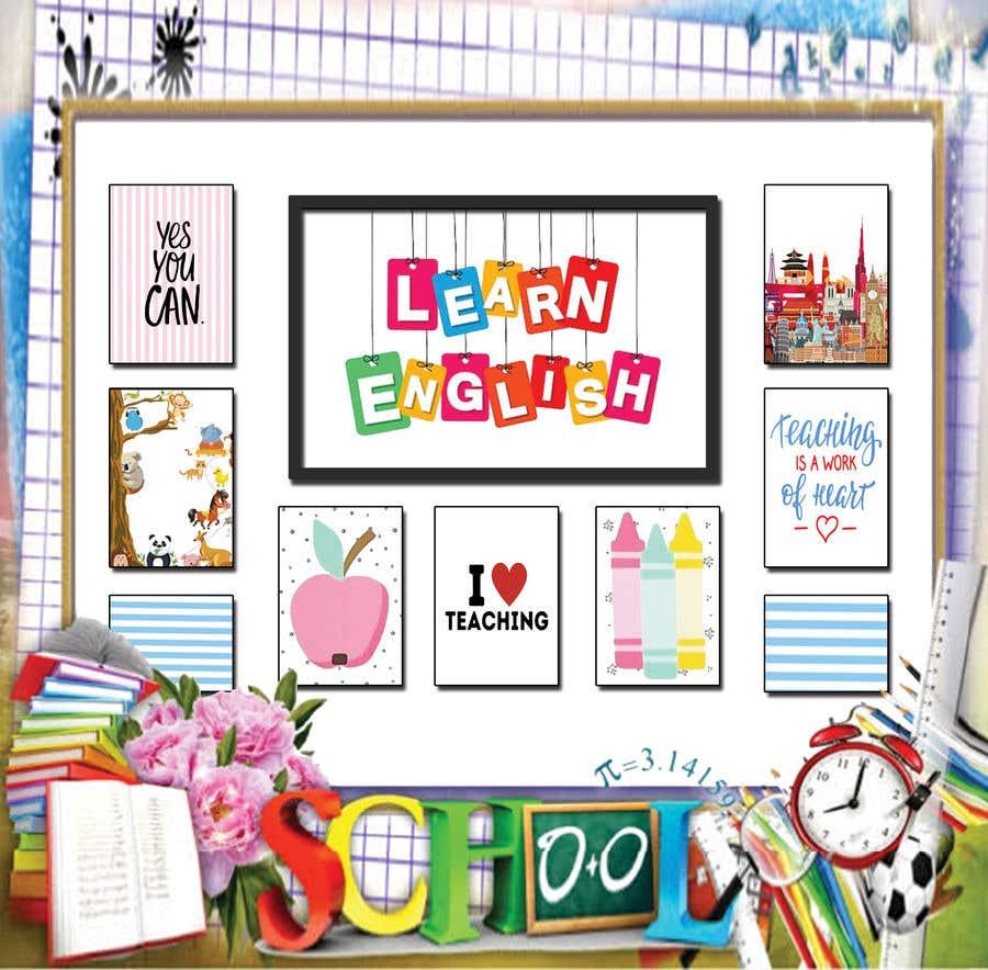 Kilpailutyö #                                        11                                      kilpailussa                                         Design a Printable Backdrop for English Teacher