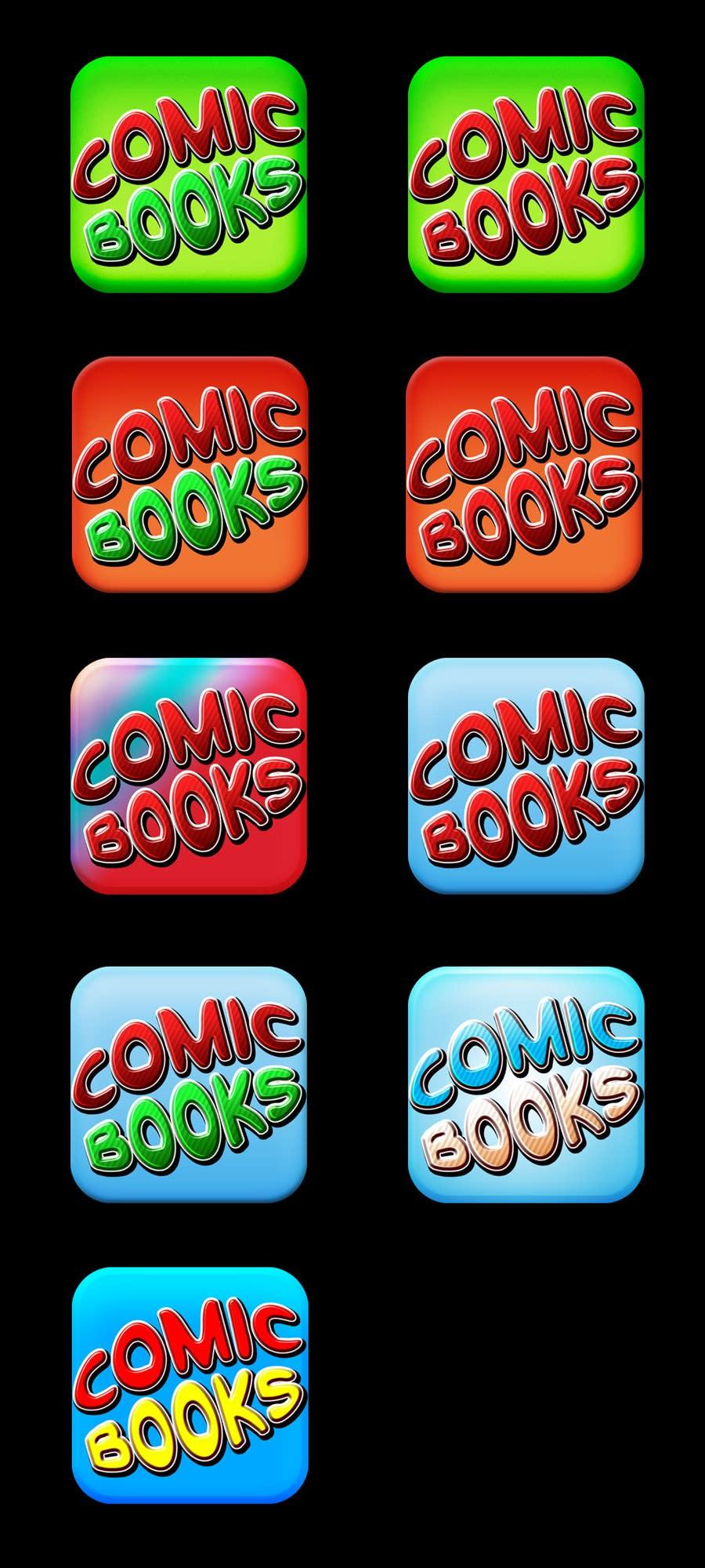 Inscrição nº                                         52                                      do Concurso para                                         Icon or Button Design for iOS comic book icon