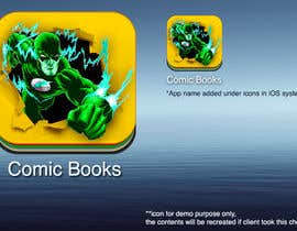 #51 cho Icon or Button Design for iOS comic book icon bởi rahmounanas