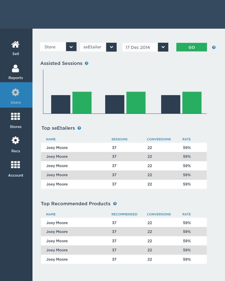 Konkurrenceindlæg #3 for Design a Web Page Mockup for SaaS web application