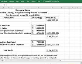 #38 para Create A Month-End Financial Statement Template In Google Sheets por N1986ziaul