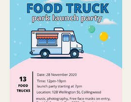 #2 for A6 event invitation for food truck launch party by Naima181