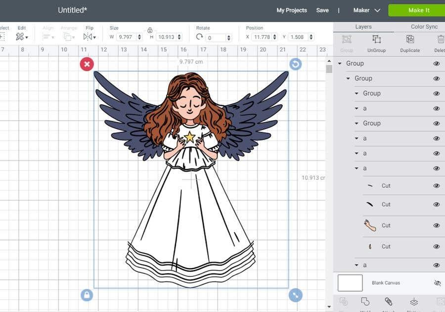 Contest Entry #                                        32                                      for                                         Original Clipart Design, Christmas Star, Angel, Mittens