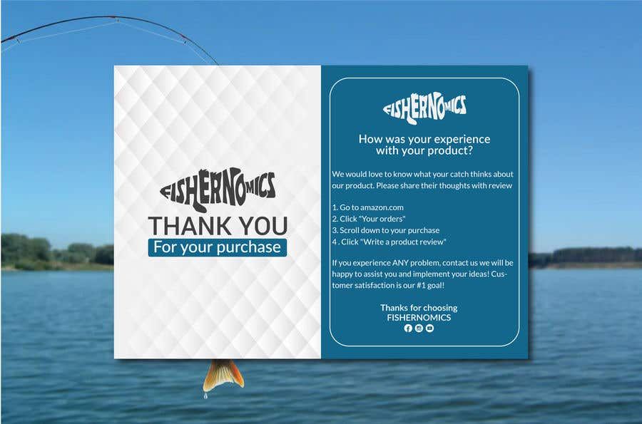Penyertaan Peraduan #                                        44                                      untuk                                         Help design my thank you card for Amazon