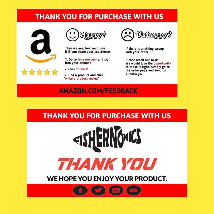 Penyertaan Peraduan #                                        49                                      untuk                                         Help design my thank you card for Amazon