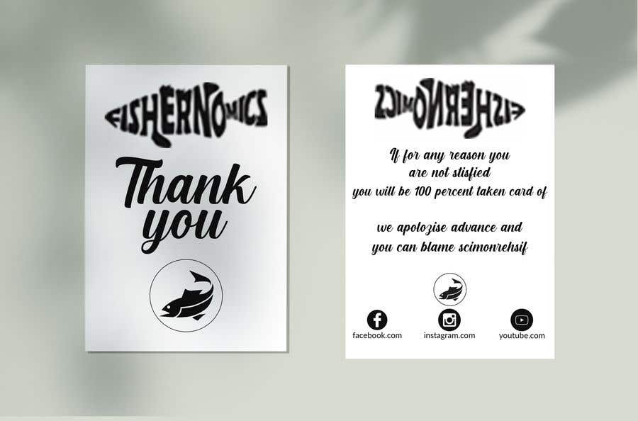 Penyertaan Peraduan #                                        40                                      untuk                                         Help design my thank you card for Amazon