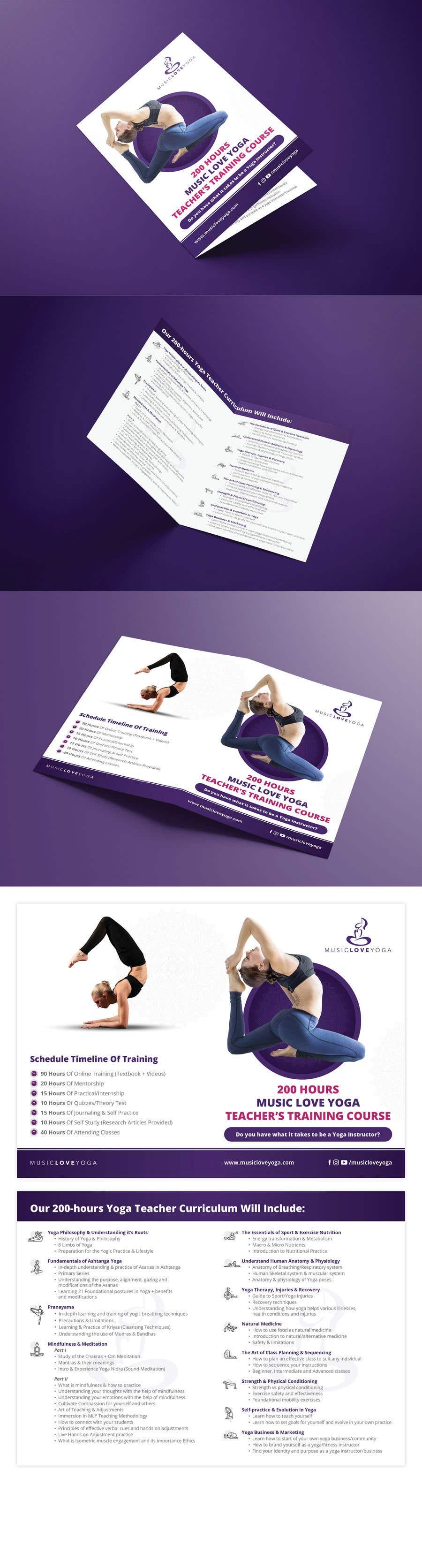 Kilpailutyö #                                        77                                      kilpailussa                                         Design a clean yoga teacher brochure
