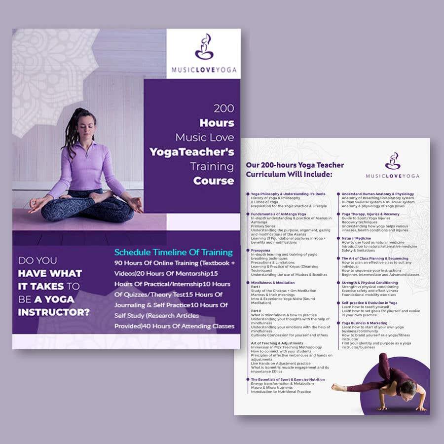 Kilpailutyö #                                        75                                      kilpailussa                                         Design a clean yoga teacher brochure