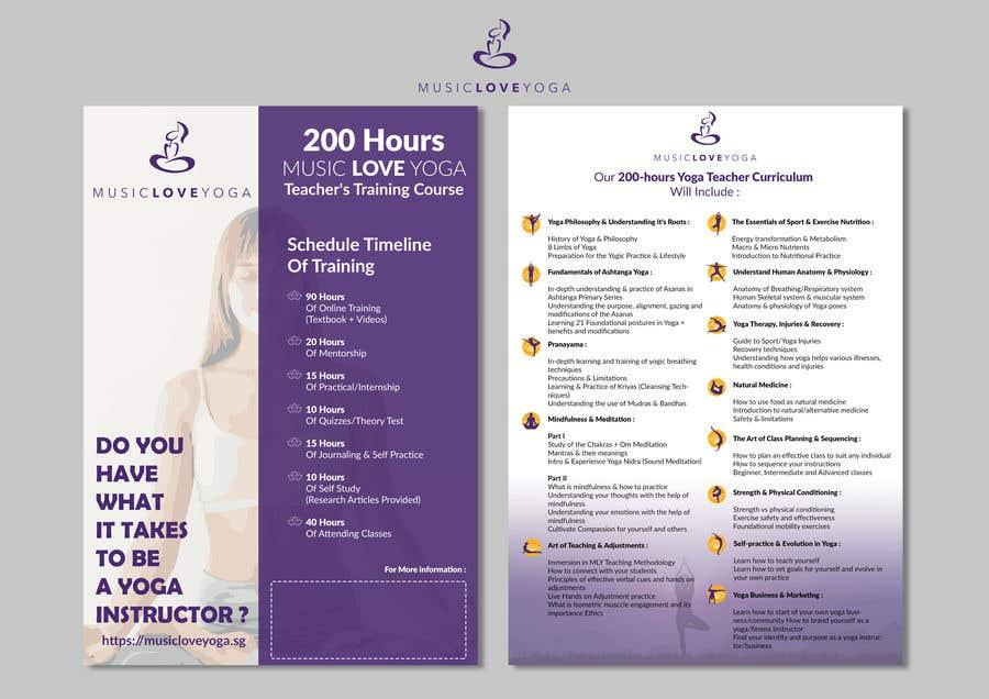 Kilpailutyö #                                        25                                      kilpailussa                                         Design a clean yoga teacher brochure