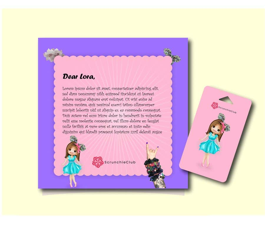 Contest Entry #                                        36                                      for                                         Letter Template & Hair Scrunchie Packaging