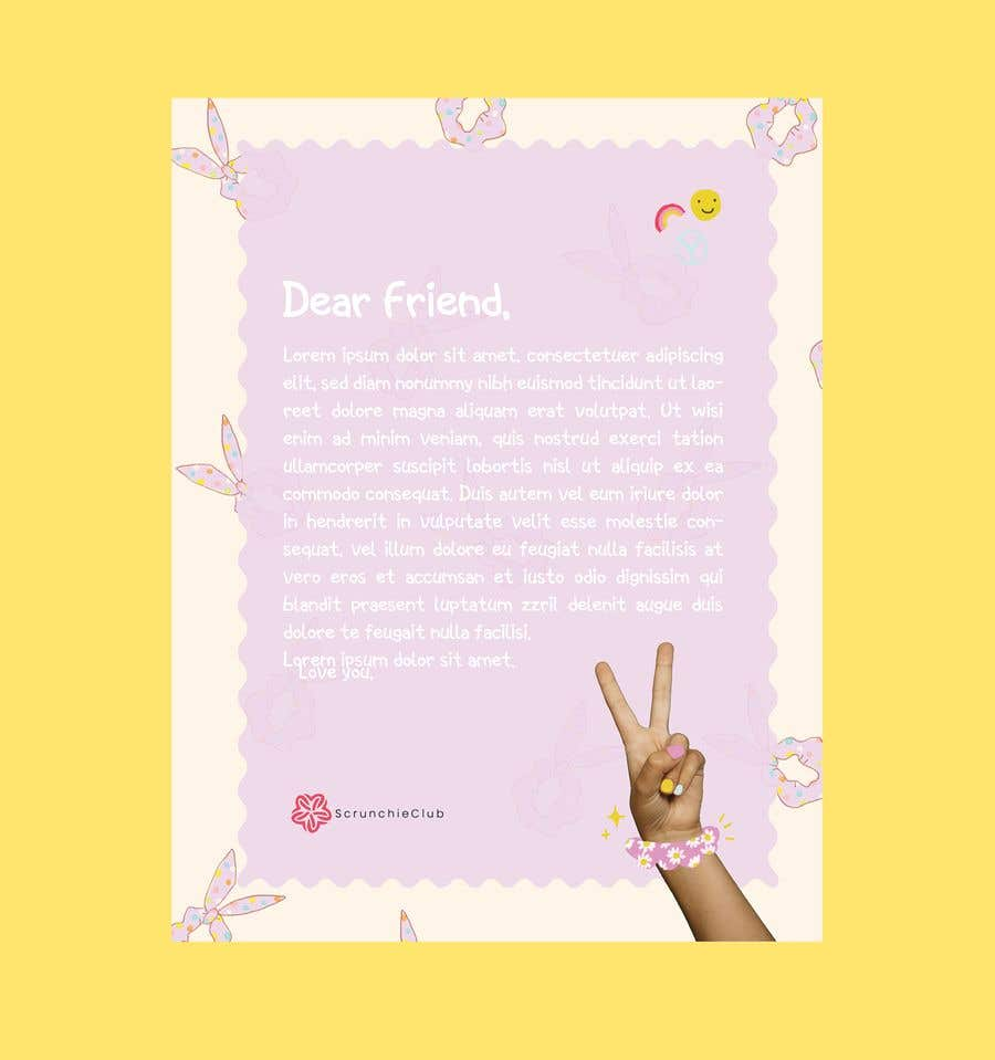 Contest Entry #                                        4                                      for                                         Letter Template & Hair Scrunchie Packaging