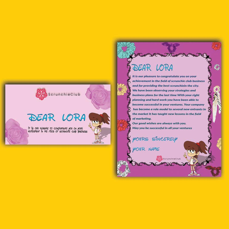 Contest Entry #                                        15                                      for                                         Letter Template & Hair Scrunchie Packaging
