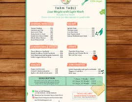 Nro 35 kilpailuun Design a Health Food Menu Card for Farmtable Restaurant käyttäjältä millaresha143