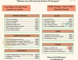 Nro 8 kilpailuun Design a Health Food Menu Card for Farmtable Restaurant käyttäjältä tarekahammed