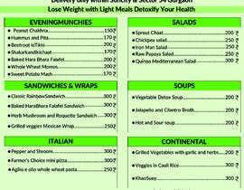 Nro 11 kilpailuun Design a Health Food Menu Card for Farmtable Restaurant käyttäjältä fardint92