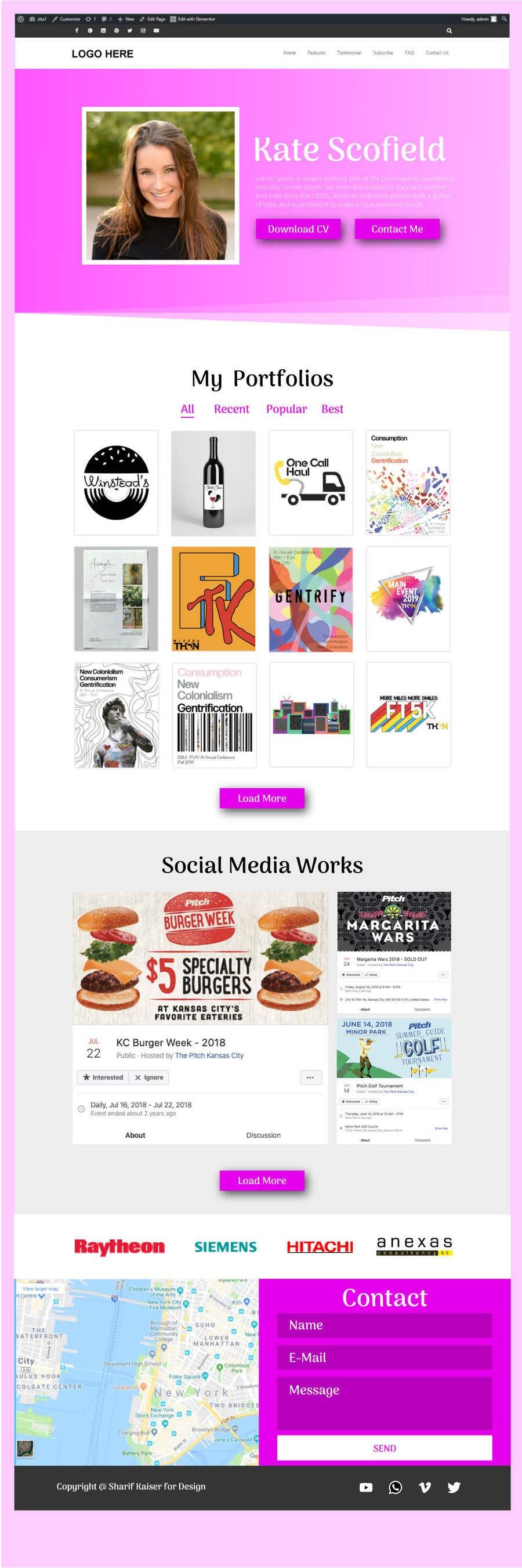 Kilpailutyö #                                        13                                      kilpailussa                                         Redesign Pinterest UI/UX Homepage/Profile page