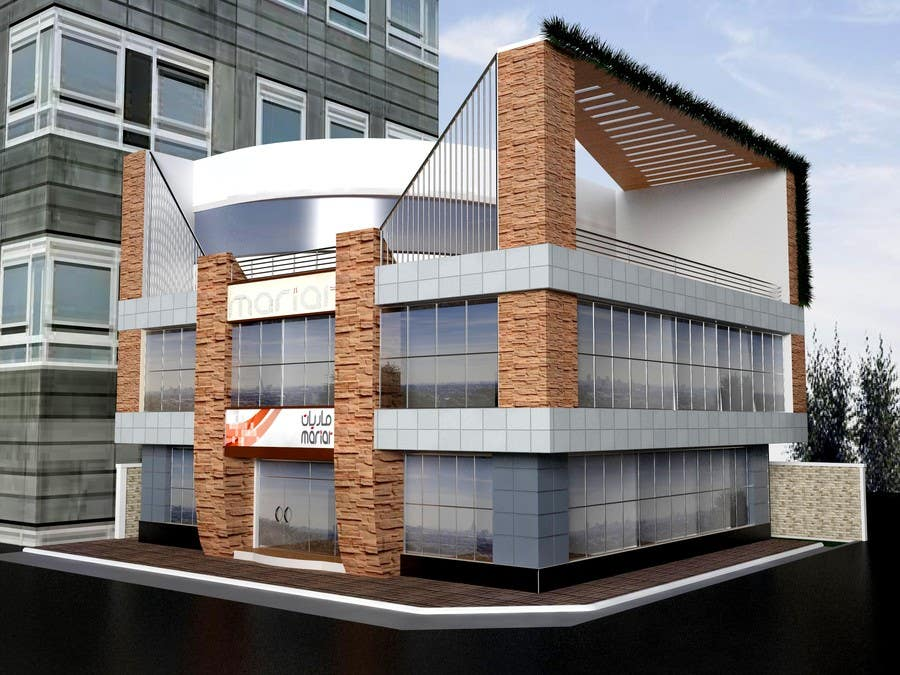 Entri Kontes #                                        16                                      untuk                                        Elevations for an office building