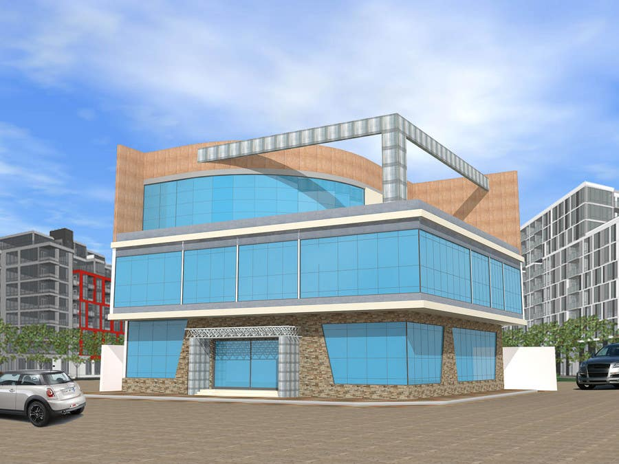 Participación en el concurso Nro.                                        15                                      para                                         Elevations for an office building