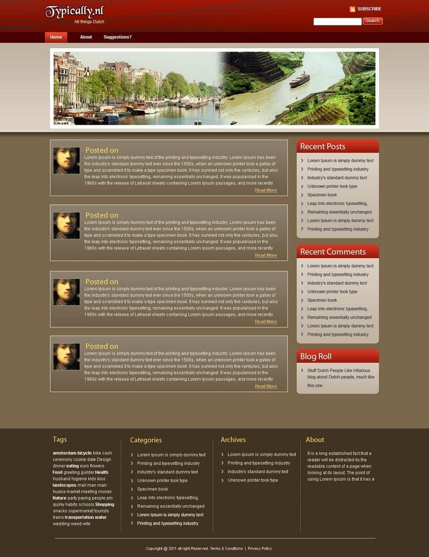 Конкурсная заявка №                                        7                                      для                                         Website Design for typically.nl