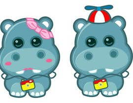 #8 para Illustration for a company mascot. [Hippo] por Stevieyuki