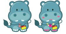 Illustration for a company mascot. [Hippo] için Graphic Design15 No.lu Yarışma Girdisi