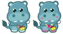 Illustration for a company mascot. [Hippo] için Graphic Design16 No.lu Yarışma Girdisi
