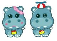 Illustration for a company mascot. [Hippo] için Graphic Design23 No.lu Yarışma Girdisi