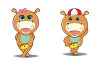 Illustration for a company mascot. [Hippo] için Graphic Design12 No.lu Yarışma Girdisi